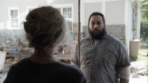 Diverged- Jerry sees that Carol has ripped apart the pantry wall- AMC, The Walking Dead