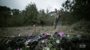 One More- Aaron and Gabriel find burned bodies- AMC, The Walking Dead