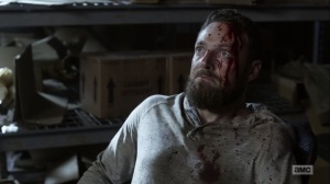 One More- Aaron's reaction after Gabriel kills Mays- AMC, The Walking Dead
