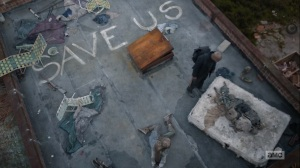 One More- Gabriel finds bodies on a roof- AMC, The Walking Dead