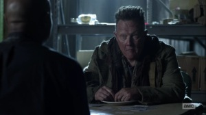 One More- Mays, played by Robert Patrick, tells Gabriel that he is in his home- AMC, The Walking Dead