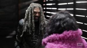 Splinter- Ezekiel drops in on Princess- AMC, The Walking Dead