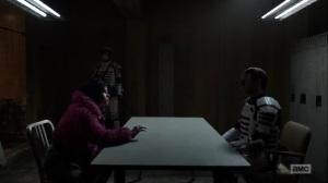 Splinter- Princess interrogated by Commonwealth guard- AMC, The Walking Dead