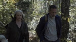 Here's Negan- Carol and Negan go for a walk- AMC, The Walking Dead