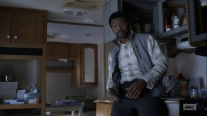 Here's Negan- Franklin, played by Miles Mussenden, speaks with Negan- AMC, The Walking Dead
