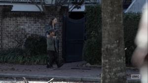Here's Negan- Maggie and Hershel walk through Alexandria- AMC, The Walking Dead