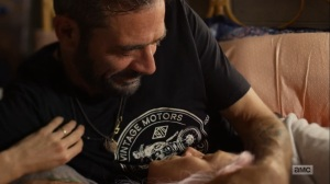 Here's Negan- Negan and Lucille have a tender moment- AMC, The Walking Dead