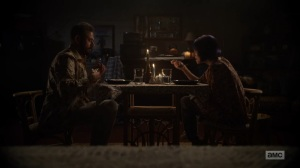 Here's Negan- Negan and Lucille have dinner- AMC, The Walking Dead