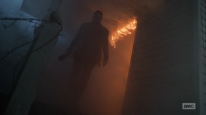 Here's Negan- Negan burns down his home- AMC, The Walking Dead