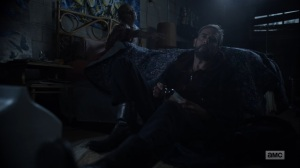 Here's Negan- Negan can't put down Lucille yet- AMC, The Walking Dead