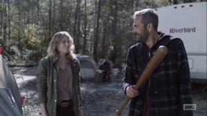 Here's Negan- Negan gets a baseball bat from Laura- AMC, The Walking Dead
