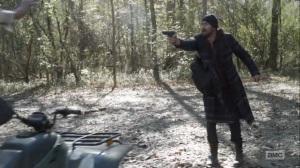 Here's Negan- Negan holds up the doctors- AMC, The Walking Dead