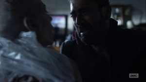Here's Negan- Negan sees Lucille as a walker- AMC, The Walking Dead