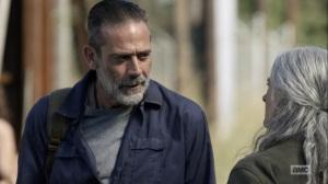 Here's Negan- Negan tells Carol that he's moving back to Alexandria- AMC, The Walking Dead