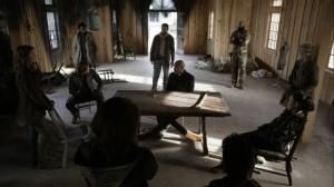 Acheron Part I- Alexandria meeting to discuss food shortage and repairs- AMC, The Walking Dead