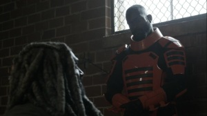 Acheron Part I- Ezekiel questions the guard- AMC, The Walking Dead