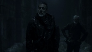 Acheron Part I- Negan says that Maggie brought him out to die- AMC, The Walking Dead