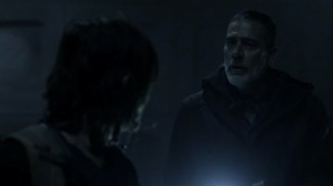 Acheron Part I- Negan tells everyone where to head in the train tunnel- AMC, The Walking Dead