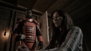 Acheron Part II- Guard brings a cup of coffee for Yumiko- AMC, The Walking Dead