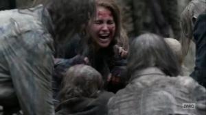 Hunted- Agatha devoured by walkers- AMC, The Walking Dead