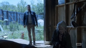 Hunted- Carol puts down one of the horses- AMC, The Walking Dead