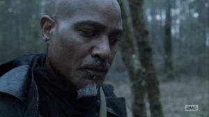 Hunted- Gabriel tells a Reaper that God isn't here anymore- AMC, The Walking Dead