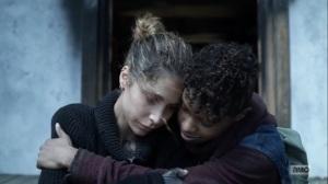 Hunted- Magna and Kelly hug- AMC, The Walking Dead