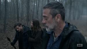 Hunted- Negan eats some crap cardboard- AMC, The Walking Dead