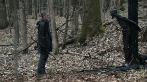 Hunted- Negan finds a burned walker- AMC, The Walking Dead