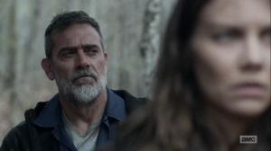 Hunted- Negan tells Maggie to rethink her plan- AMC, The Walking Dead