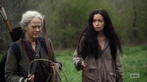 Hunted- Rosita tells Carol about her dreams- AMC, The Walking Dead