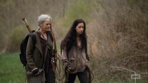 Hunted- Rosita tells Carol that she's having dreams about Abraham- AMC, The Walking Dead