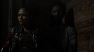On the Inside- Connie covers herself in walker guts- AMC, The Walking Dead