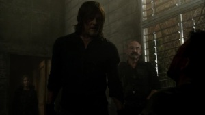 On the Inside- Daryl interrogates Frost for information- AMC, The Walking Dead