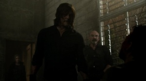 On the Inside- Daryl interrogates Frost in front of Pope- AMC, The Walking Dead