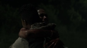 On the Inside- Kelly and Connie hug- AMC, The Walking Dead