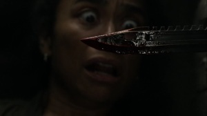 On the Inside- Virgil almost stabs Connie- AMC, The Walking Dead