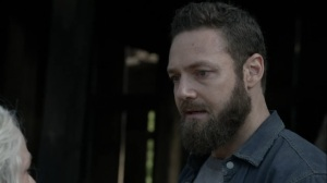 Out of the Ashes- Aaron listens to Carol talk about going down a dark path- AMC, The Walking Dead