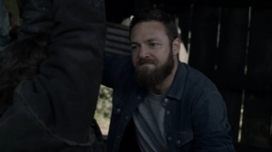 Out of the Ashes- Aaron offers to cut off Keith's hand- AMC, The Walking Dead
