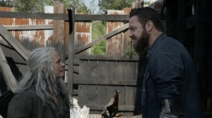 Out of the Ashes- Carol stops Aaron from going down the same dark path that she did- AMC, The Walking Dead