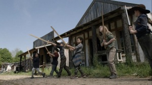 Out of the Ashes- Judith trains the kids in Alexandria- AMC, The Walking Dead
