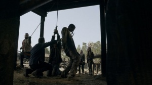 Out of the Ashes- Keith is tortured for information- AMC, The Walking Dead