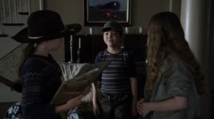 Out of the Ashes- Kids offer to help Judith with the handprints- AMC, The Walking Dead