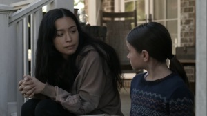 Out of the Ashes- Rostia tells Judith about her own parents- AMC, The Walking Dead