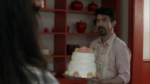 Out of the Ashes- Tomi, played by Ian Anthony Dale, sees Yumiko for the first time in ages- AMC, The Walking Dead