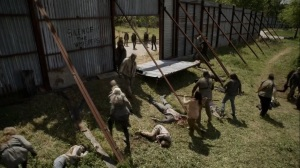 Out of the Ashes- Walkers enter Alexandria- AMC, The Walking Dead
