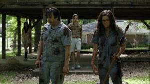Promises Broken- Eugene and fake Stephanie kill walkers- AMC, The Walking Dead