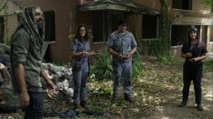 Promises Broken- Ezekiel offers lollipops to Eugene, Princess, and fake Stephanie- AMC, The Walking Dead