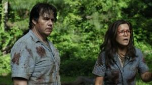 Promises Broken- Fake Stephanie shocked after Eugene punches Sebastian- AMC, The Walking Dead