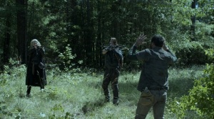 Promises Broken- Leah and Daryl find a man in the woods- AMC, The Walking Dead